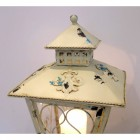 Shabby Chic Cream Candle Table Lantern