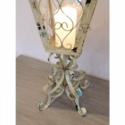Shabby Chic Cream Candle Table Lantern