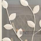 Close-up of the Cream Leaf Design