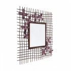 """Marberry Meadows"" Rustic Iron Wall Mirror"