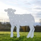 Curly Lamb Silhouette in Silver