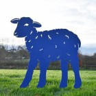 Iron Curly Lamb Silhouette in Blue