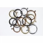 Curtain Rings - Plain Brass