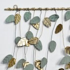 Close-up of the Green and Gold Finishes on the Leaves