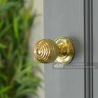 Brass Beehive Doorknob