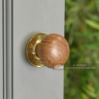 Plain Natural Wood Door Knobs