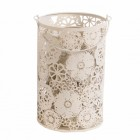 Cream decorative Cylinder, can be used as candle holder