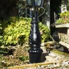 Detailed image of ornate cast iron base