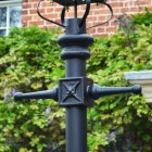 Black Dorchester Lamp Post & Lantern Set 3.7m