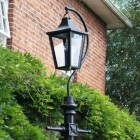 Black Lincoln Swan Neck & Lamp Post 2.46m