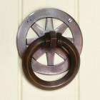 """Westchester"" Antique Copper Contemporary Door Knocker"