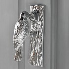 Bright Chrome Woodpecker Door Knocker
