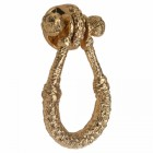 Polished Brass Rope Knot Door Knocker