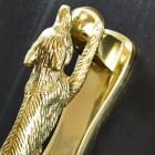 detailed image of Polished Brass Running Fox Door knocker