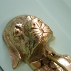 Stunning Polished Brass Dog Door Knocker