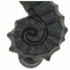 Black Cast Iron Effect Sea Horse Door Knocker