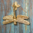 Polished Brass Dragon Fly Door Knocker