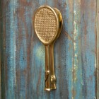 Polished Brass Tennis Racquet Door Knocker