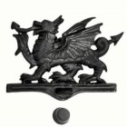 Black Finish Welsh Dragon Door Knocker Created with Iron