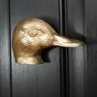 Polished Brass Duck Door knocker