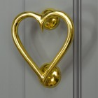 Brass Heart Door Knocker