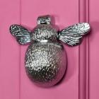 Bumble Bee Design Bee Door Knocker on a Pink Door