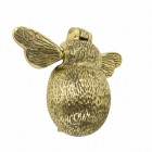Polished brass Bee door knocker