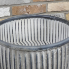 Close-up of the Top of the Vintage Metal Dolly Tub Set