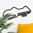 Donington Park Motor Racing Circuit Wall Art on White Wall