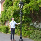 Black Dorchester Lamp Post & Lantern Set 3.25m
