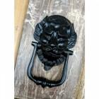 """""""Downing street lion"""" Door Knocker in Situ on a Door"""