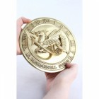 Polished Brass 'Welsh Dragon' Sundial - 180mm
