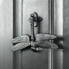 Dragonfly Door Knocker - Cast Iron On Front Door