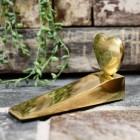 Polished brass heart door wedge