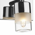 Dual Bulb Bright Chrome Bathroom Wall Light