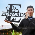 Scale of the Monogram Sign Displaying the Surname Edwards