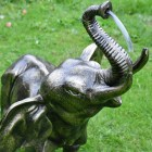 Elephant Calf Water Fountain in a Bronze Finish