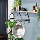 """""""Ellesmere"""" Hanging Saucepan Rack in Situ in the Home"""