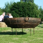 Traditional Kadai Bowl on the Garden