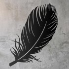 Feather Wall Art in Use a Rustic Wall