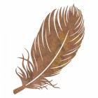Feather Wall Art in a Rustic Finish