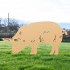 Tan Female Pig Silhouette