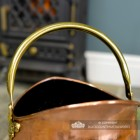 Brass Carry Handle o the Top of the Coal Bucket