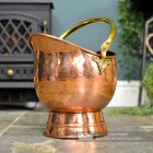 """Windsor"" Coal Bucket Finsihed in Copper"