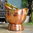 Traditional Coal Bucket Finished in a Copper and Brass Finish