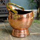 "Traditional Copper""Windsor"" Coal Bucket"