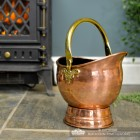 """""""Windsor"""" Coal Bucket Next to the Fire Place"""