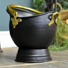 """Countess"" Coal Bucket Finished in a Black & Brass"