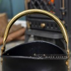 "Brass Carry Handle on the Top of the ""Countess"" Coal Bucket"