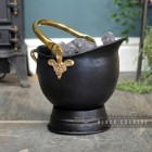 "Black ""Countess"" Coal Bucket with brass Handles"